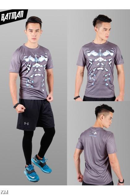 Super Hero Men's Sport Quick Dry Short Sleeves T-Shirt Tees [M25687]