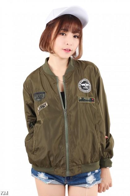 Eagle Badge Bomber Jacket [M21046]