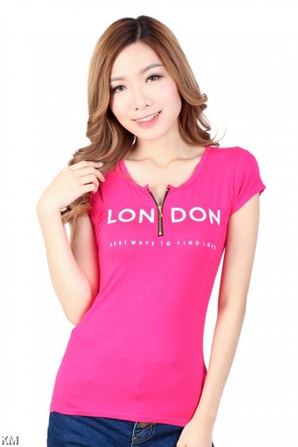 London Front Zip Tee [M5187]