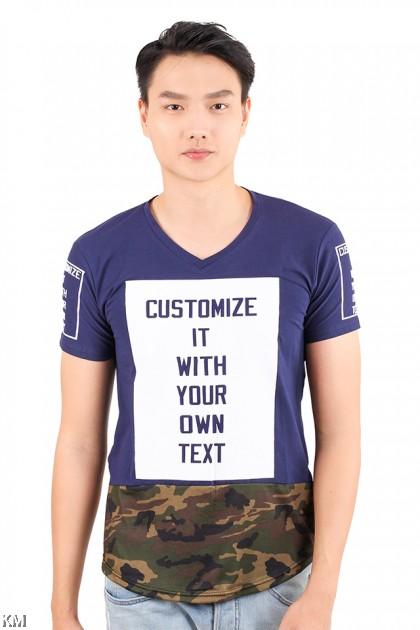Half Cut Camouflage Top [M21539]