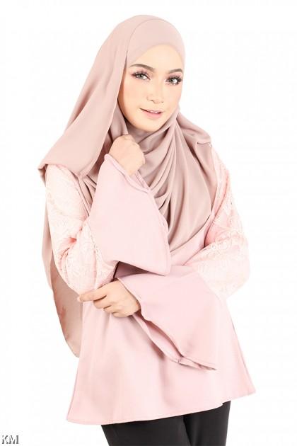 Flounce Lace Muslimah Blouse [M23241]