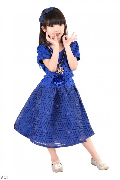 Kids Funnel Party Dress [M18173]