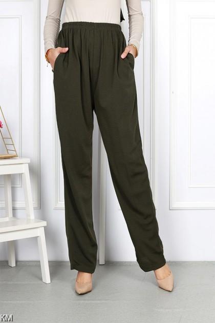 Straight Cut Plus Size Women Pants [M10911]