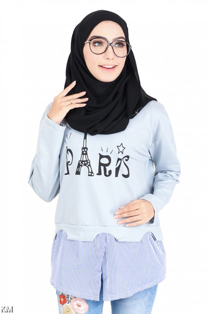 Paris Long Sleeve Blouse [M14219]