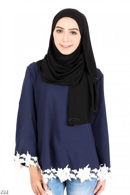 Self Pattern Muslimah Blouse [M14227]