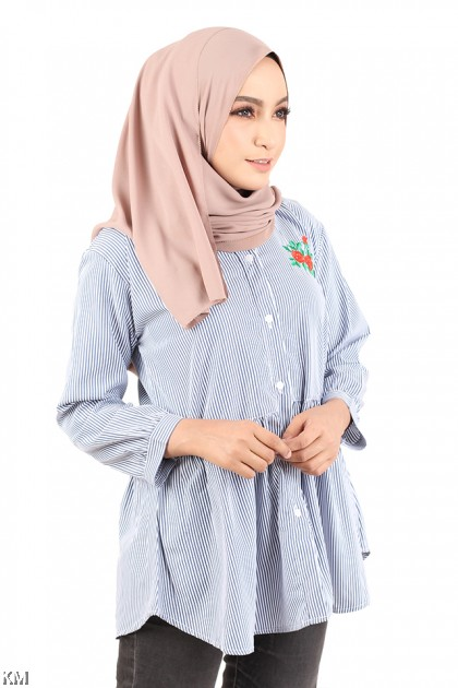 Chest Embroidered Shirt [M2941]