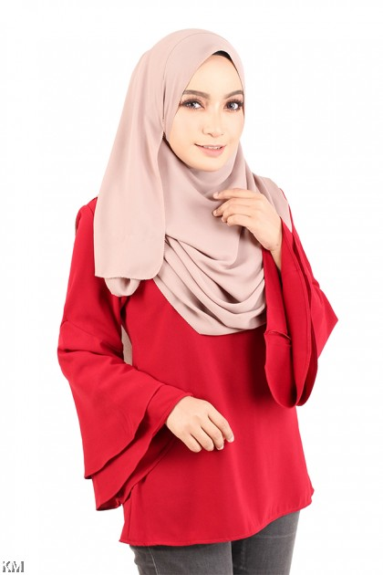 Flattering Muslimah Blouse [M12320]