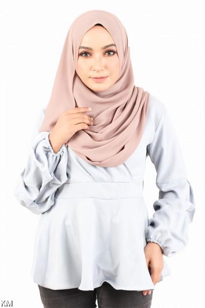 Waistband Peplum Muslimah Top [M755]