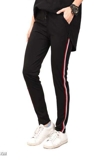 Black Sporting Track Pants [M14377]