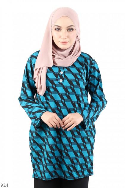 Muslimah Fully Printed Blouse [M11517]