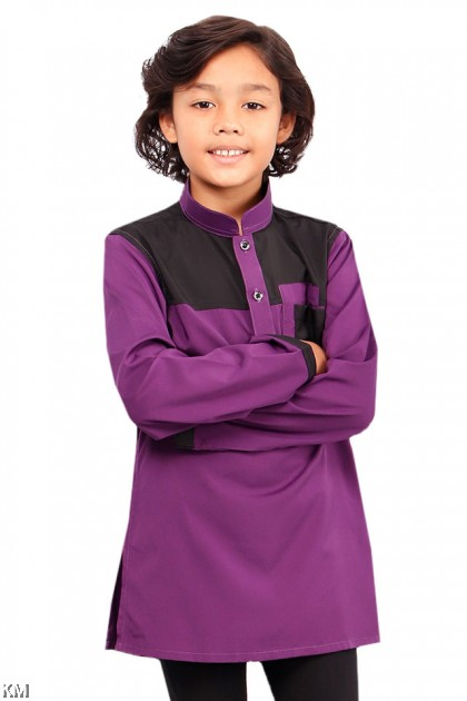 Kids Hazzan Pocketed Button Kurta [B19661]