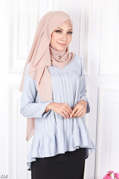 Absolute Pleated Flare Blouse [B19567]