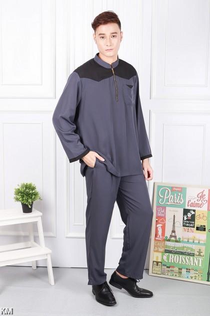 Men Aziz Front Zip Baju Melayu Modern [M20908]
