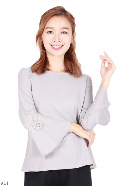 Women Plain Basic Fluted Top [B1239]