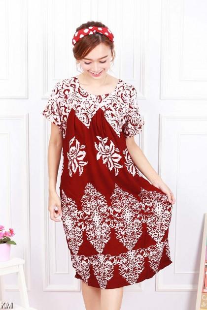 Round Neck Kaftan Dubai Sleeping Dress [D25300]