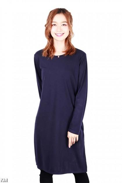 Vietnamese Style Side Slits Blouse [B19926]