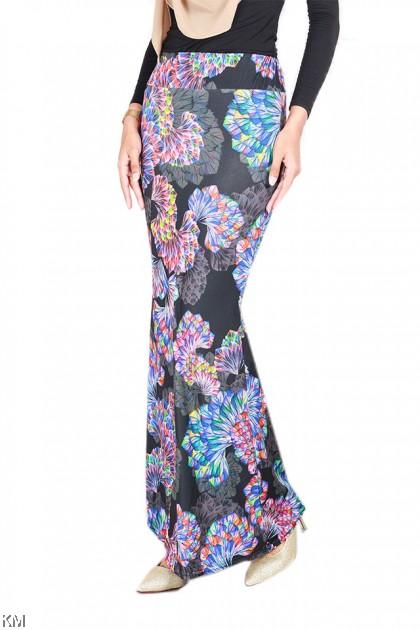 Multi Printed Mermaid Skirt [S24911]