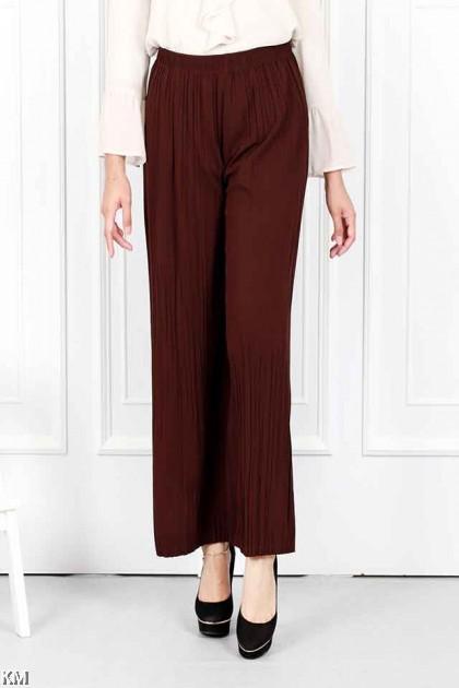 Pleated Elastic Casual Pants [P19957]