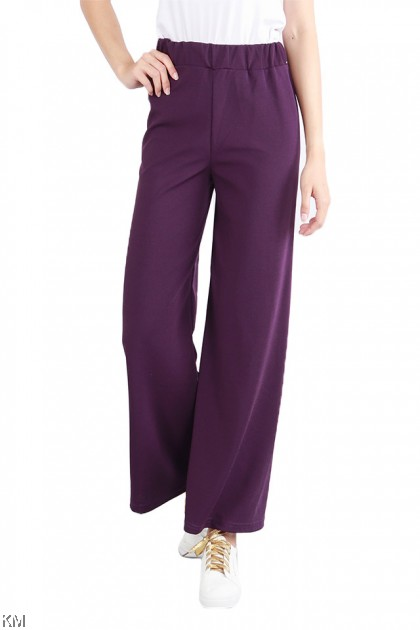 Lucky Colors Casual Palazzo Pants [P17433]