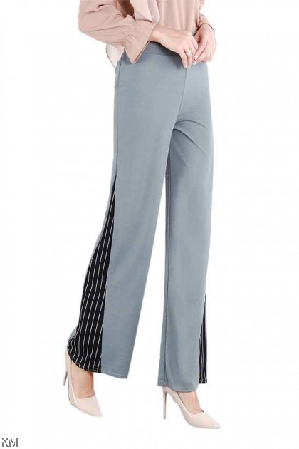 Side Slits Wide Leg Palazzo Pants [P15603]