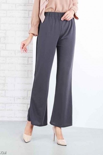 Clean Wavy Elastic Bootcut Trousers [P16594]
