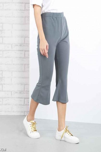 Bootcut Quarter Elastic Pants [P15600]