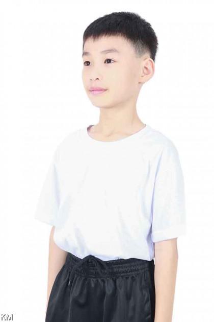 School Round Neck SHORT Sleeves White T Shirt [T18823]