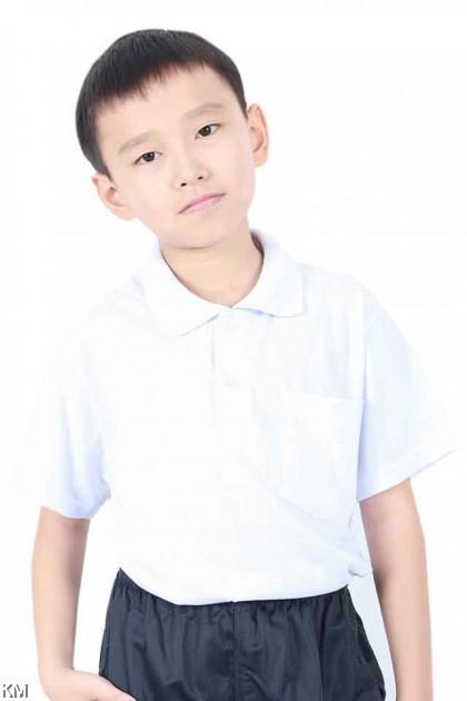 School COLLAR SHORT Sleeves White T Shirt [T19805]