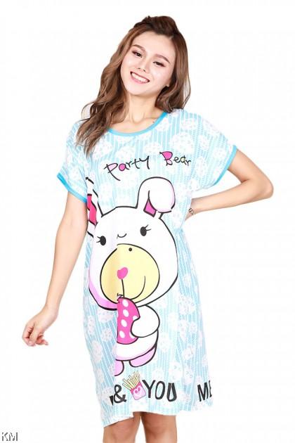 Cartoon Printed Plus Size Sleep Dress Collection B [PJ30575]