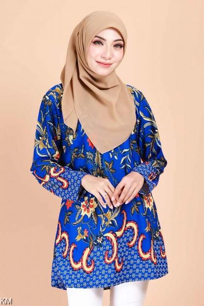 Alaisyah Flora Batik Fashion Blouse A [B11841]
