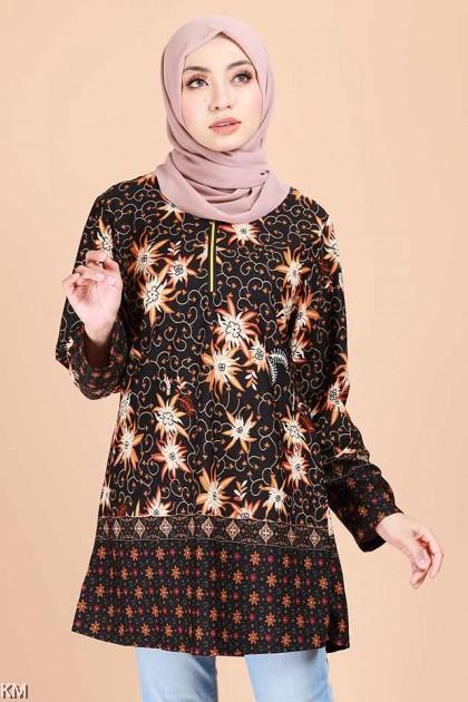 Alaisyah Flora Batik Fashion Blouse B [B11841]