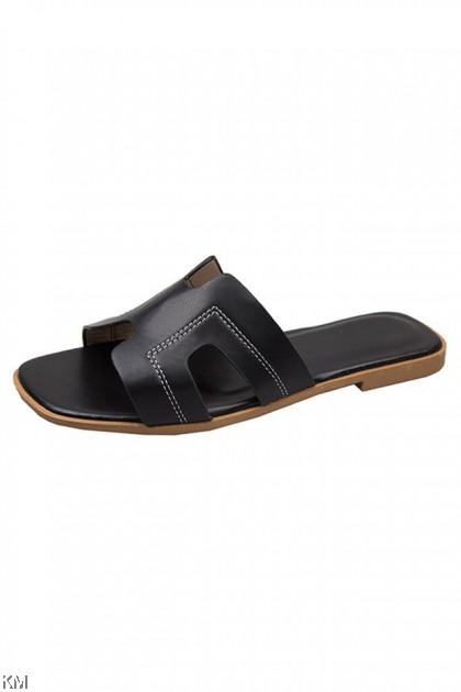 Pastely Holla Slip On Sandal Flat Shoes [SH86]