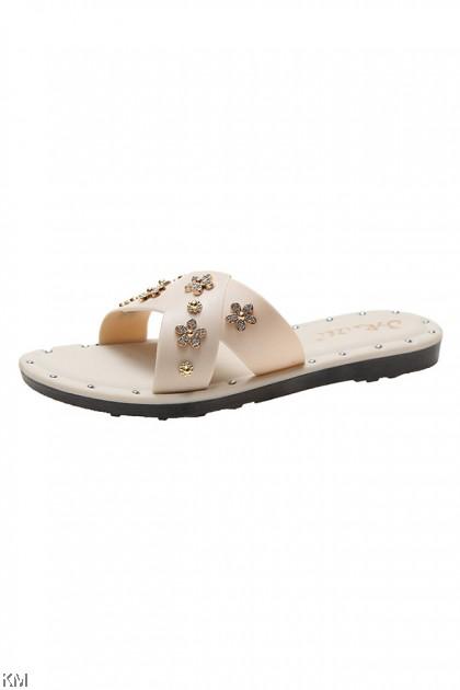 Summer Day Flower Slip On Sandals [SH28718]