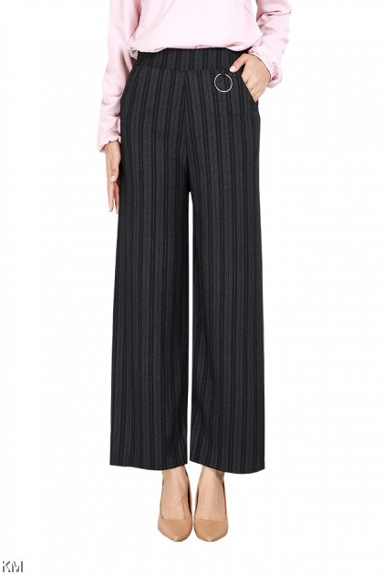 Business Women Vertical Striped Pants [P29275]