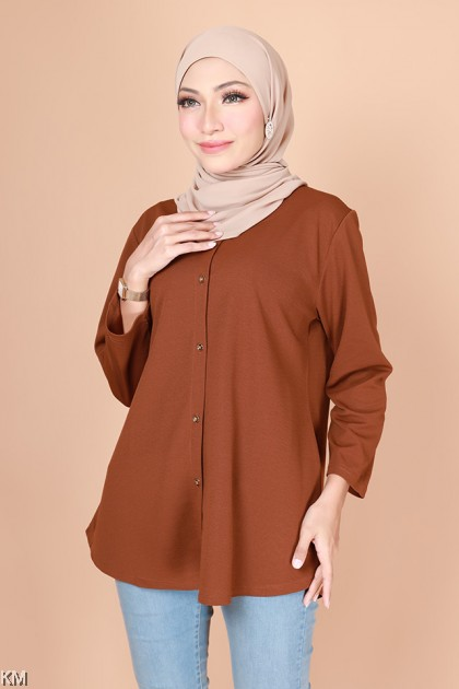 Nafisa Front Button Plain Fashion Blouse [B31228]