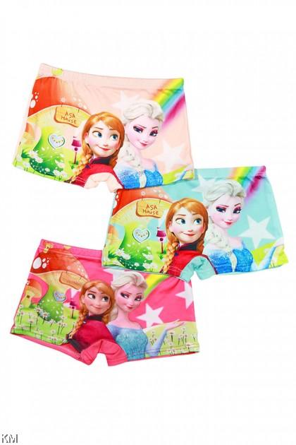3 Pcs In Set Star Cartoon Children Ice Silk Underwear [L30406]