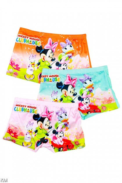 3 Pcs In Set MM Cartoon Children Ice Silk Underwear [L30409]