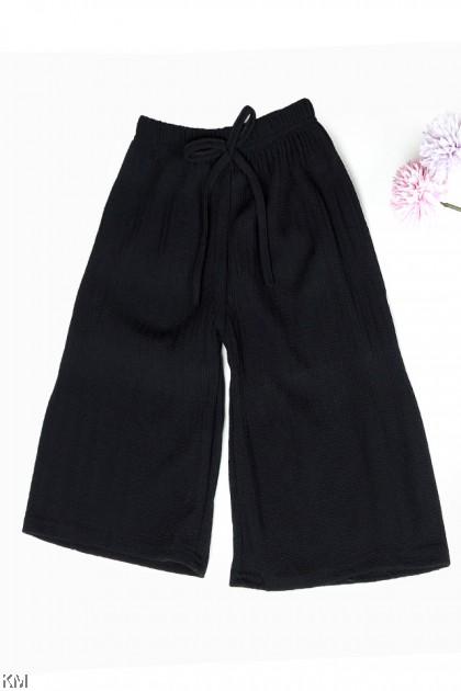 Kids Ribbon Elastic Pleated Pants [P29779]