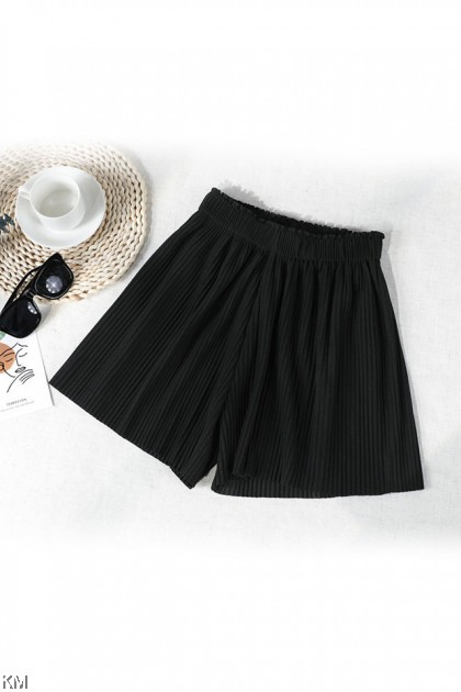 Summer Pleated Wide Shorts [P31740]