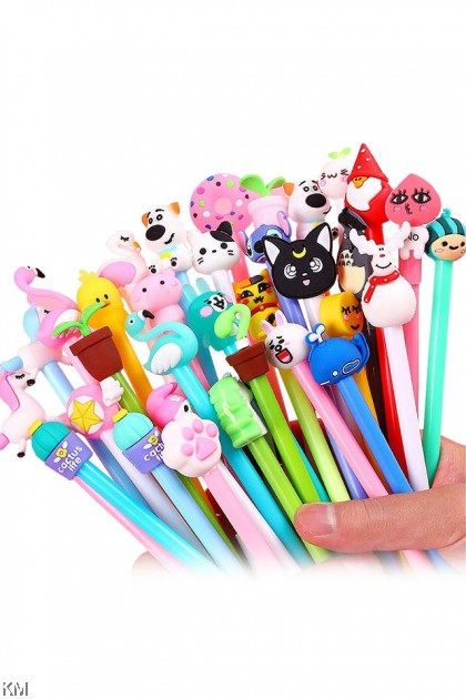 0.5mm Cute Black Ink Cartoon Ballpoint Gel Pen [1783]