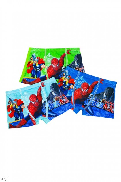 3 PCS Pack Boy Spiderman Thor Cartoon Underwear [L30403]