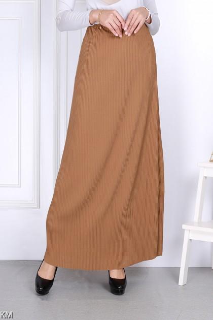 High Waist Bold A Line Pleated Skirt [S31741]