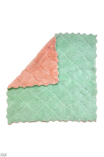 Double Layer Coral Kitchen Towel [1784]