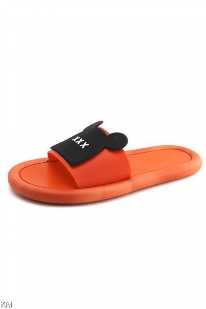 Kids Unisex Mouse Face Waterproof Beach Slippers [SH23710]