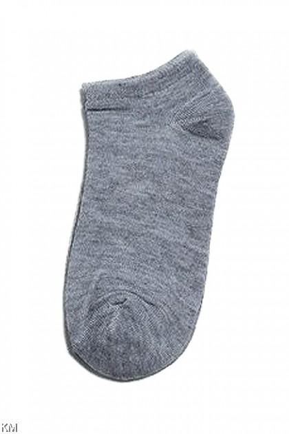 Unisex Mid Ankle Plain Socks [M2079]