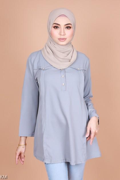 Nooriya Muslimah Front Button Blouse [B10275]