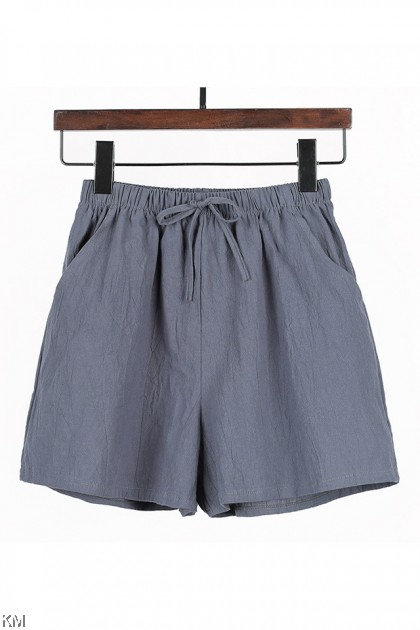 Summer A Line Cotton Shorts [P15307]