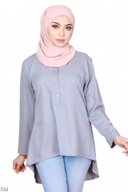 Kamaliyah V Neck Button Blouse [B14342]