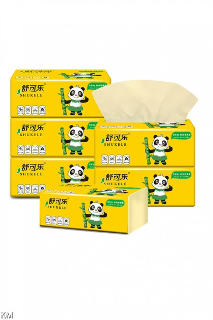 300pcs (4ply x 75pulls) Bamboo Tissue [2112]