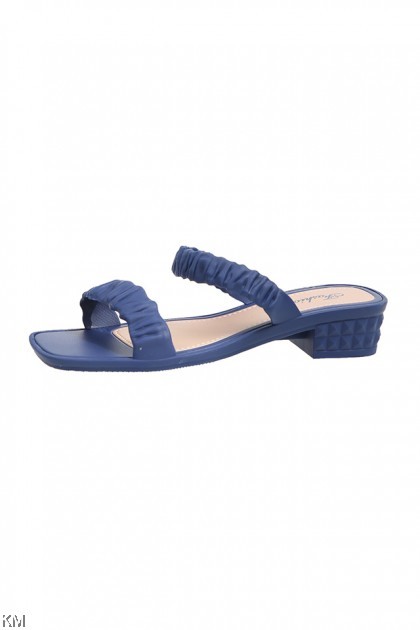Puffy Elastic Slip On Sandals [SH24463]